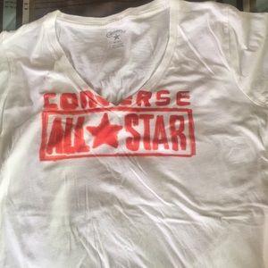 Converse v-neck t-shirt